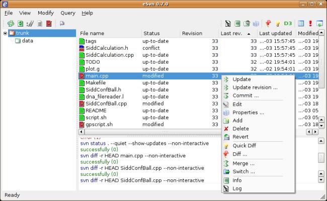 eSvn 0.7.0 screenshot